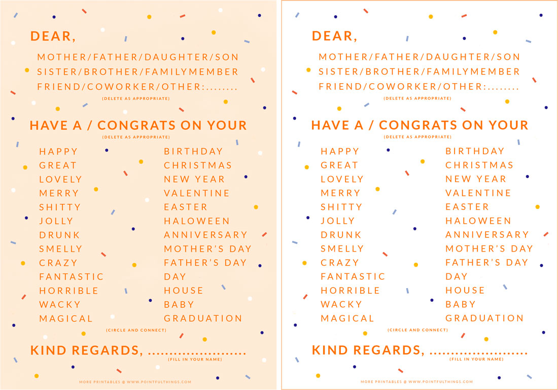 card for all occasions
