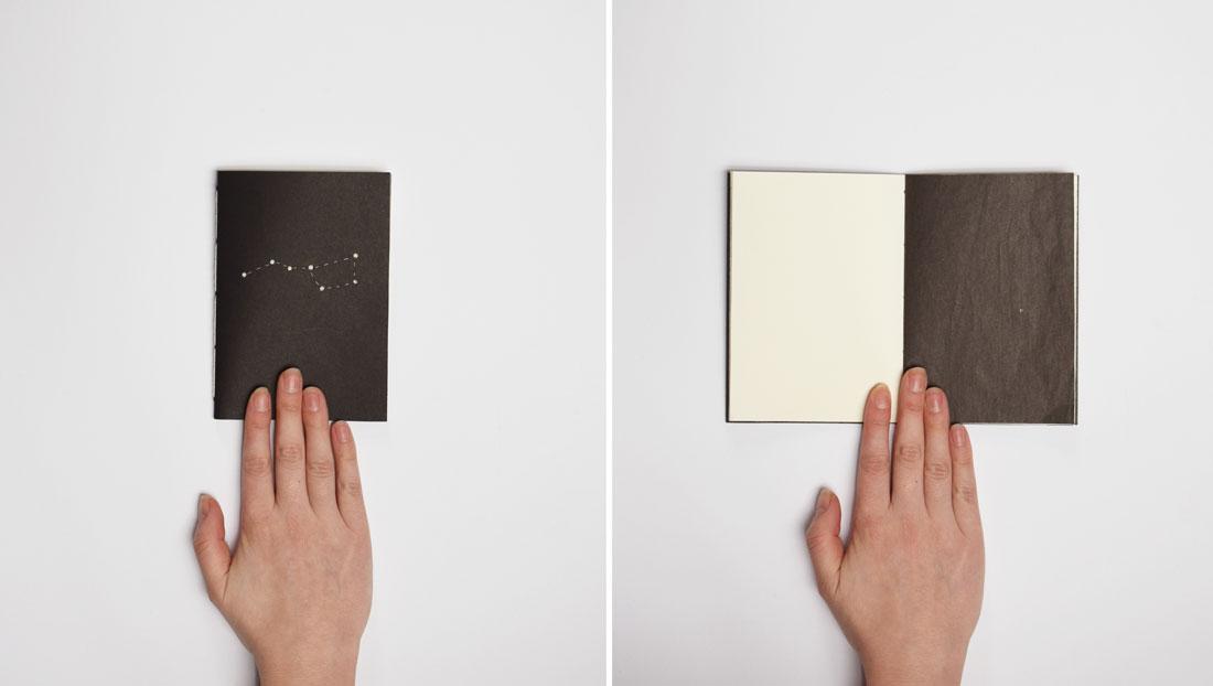 Zwart notitieboekje