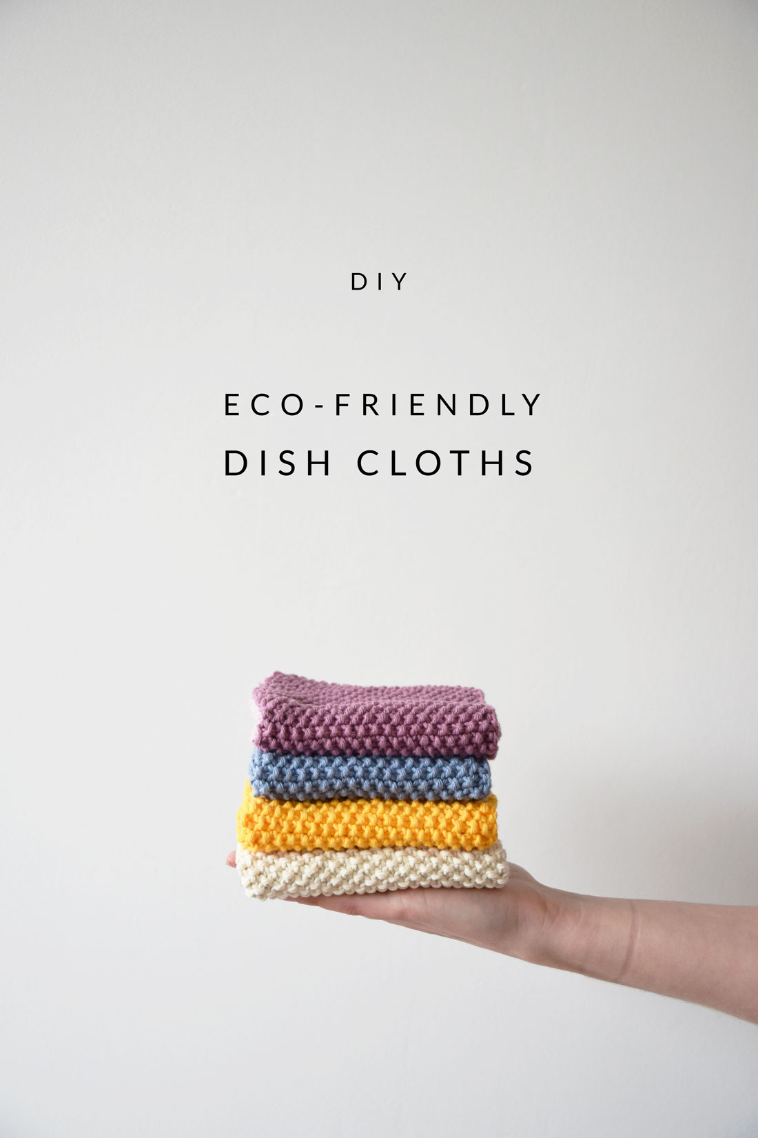 DIY Eco-friendly Dish Cloth