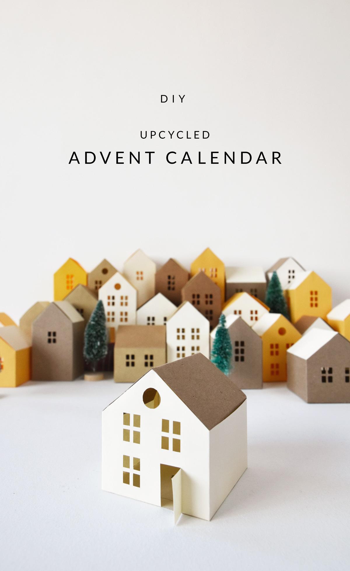 DIY upcycled advent calendar
