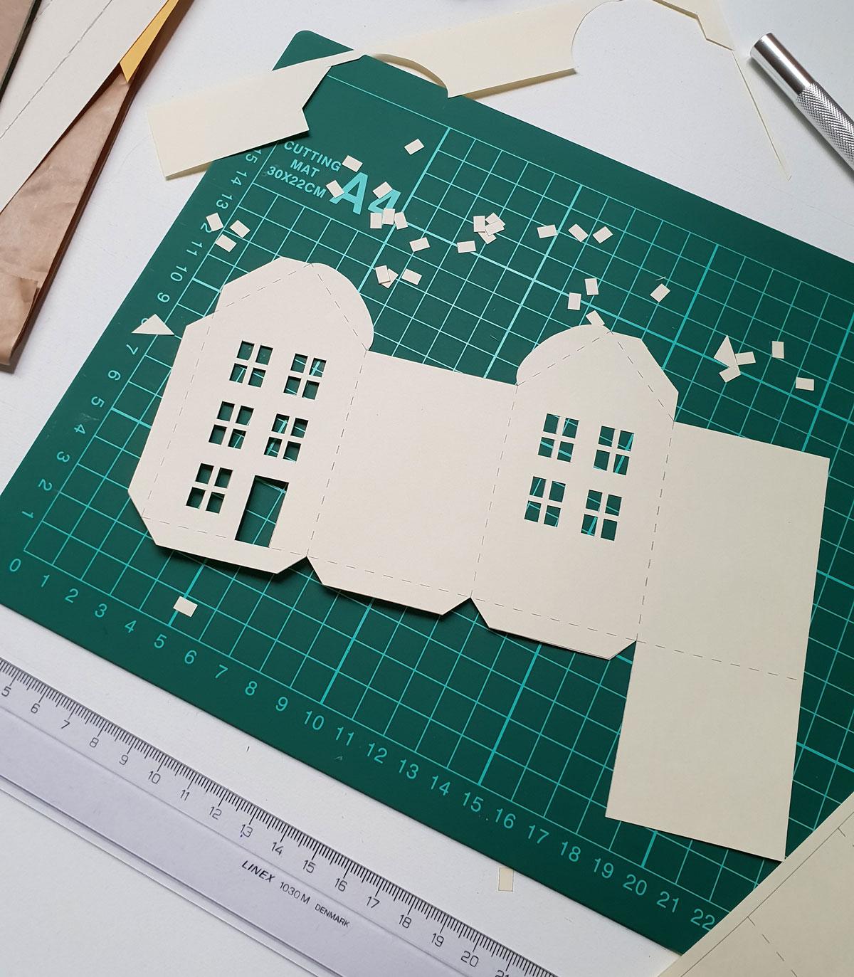 Adventskalender huisjes